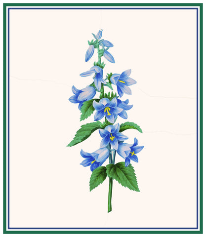 Blue Bell Flowers Inspired by Pierre-Joseph Redoute Counted Cross Stitch Pattern DIGITAL DOWNLOAD