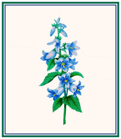 Blue Bell Flowers Inspired by Pierre-Joseph Redoute Counted Cross Stitch or Counted Needlepoint Pattern