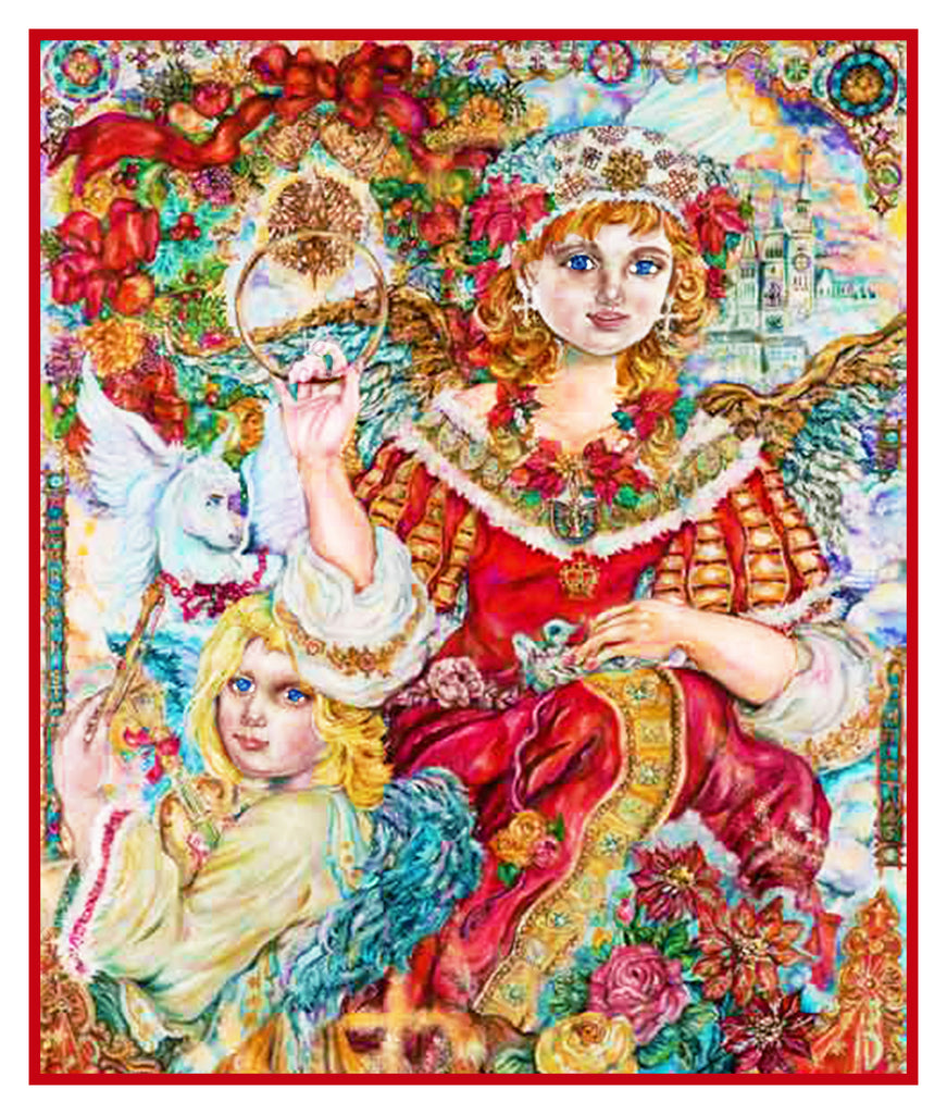 Angel of Christmas inspired by Yumi Sugai Counted Cross Stitch  Pattern - Orenco Originals LLC