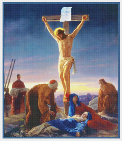 Jesus Christ the Crucifixion Religion by Bloch Counted Cross Stitch Pattern DIGITAL DOWNLOAD
