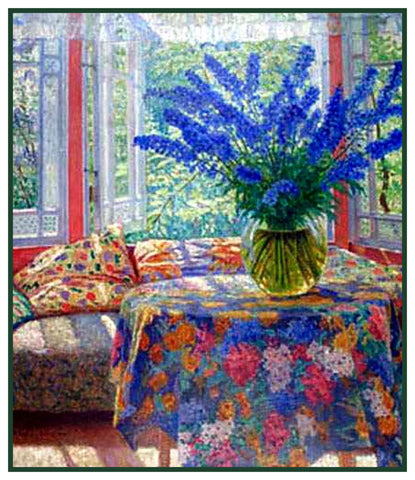 Vase Winter Flowers By Nikolay Bogdanov-Belsky Counted Cross Stitch Pattern