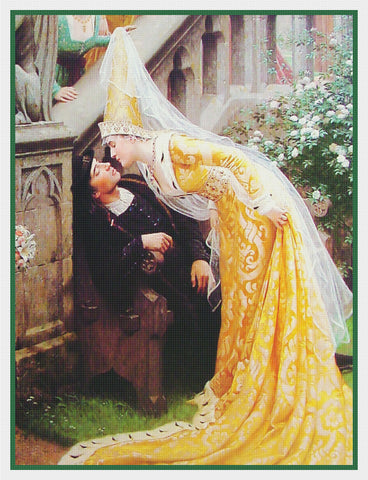 Medieval La Belle Dame Sans Mercy inspired by Edmund Blair Leighton Counted Cross Stitch Pattern