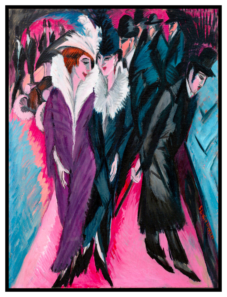 A Berlin Street Scene by Ernst Ludwig Kirchner Counted Cross Stitch  Pattern - Orenco Originals LLC