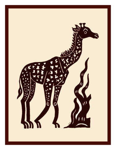 Russian Folk Art Animal Giraffe by Issachar Ber Ryback's Counted Cross Stitch Pattern