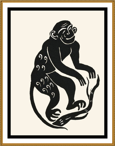 Russian Folk Art Animal Monkey by Issachar Ber Ryback's Counted Cross Stitch or Counted Needlepoint Pattern