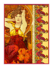 Amethyst by Alphonse Mucha Counted Cross Stitch  Pattern - Orenco Originals LLC