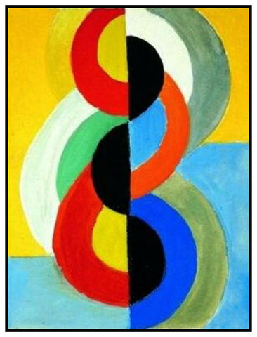 Color Rhythm Geometric Cubism by Artist Robert Delaunay Counted Cross Stitch or Counted Needlepoint Pattern
