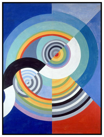 Decoration for the Tuileries Geometric Cubism by Artist Robert Delaunay Counted Cross Stitch or Counted Needlepoint Pattern