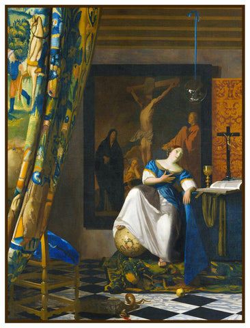 The Allegory of Faith by Johannes Vermeer Counted Cross Stitch or Counted Needlepoint Pattern