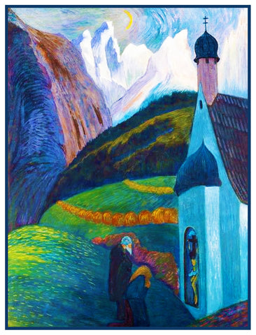 Country Prayers by Marianne Von Werefkin Counted Cross Stitch Pattern