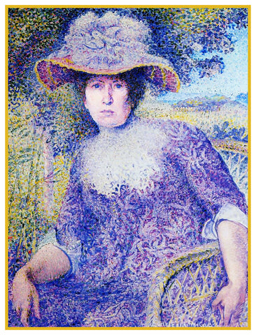 Henri-Edmond Cross Portrait Of Madame Cross Orenco Originals Counted Cross Stitch Pattern