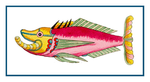 Fallours' Renard's Fantastic Colorful Tropical Fish 7 Counted Cross Stitch or Counted Needlepoint Pattern