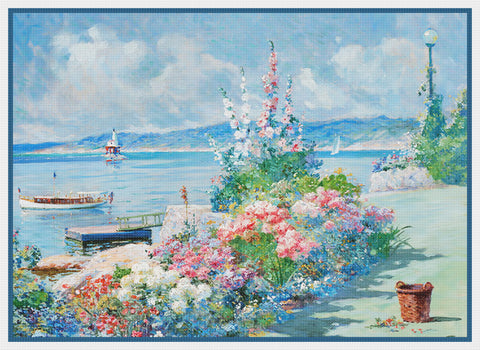 In My Wife's Garden By Abbott Fuller Graves Counted Cross Stitch Pattern DIGITAL DOWNLOAD