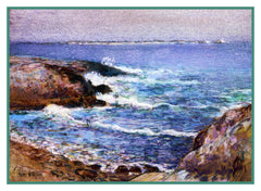 Cannon Beach Oregon by American Impressionist Painter Childe Hassam Counted Cross Stitch or Counted Needlepoint Pattern - Orenco Originals LLC