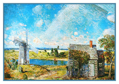 A Long Island Landscape by American Impressionist Painter Childe Hassam Counted Cross Stitch  Pattern - Orenco Originals LLC