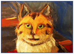 A Calico Kitty Cat by Expressionist Artis Franz Marc Counted Cross Stitch  Pattern - Orenco Originals LLC