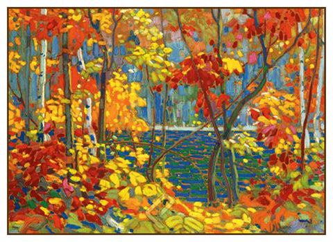 Tom Thomson's The Pool Trees Autumn Canada Landscape Counted Cross Stitch or Counted Needlepoint Pattern