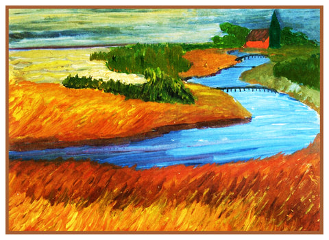 Winding Prerow River by Marianne Von Werefkin Counted Cross Stitch Pattern