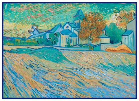 View of the Asylum by Vincent Van Gogh Counted Cross Stitch Pattern