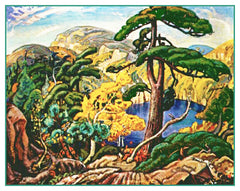 Arthur Lismer Bright Land Pine Tree Canada Landscape Counted Cross Stitch  Pattern - Orenco Originals LLC