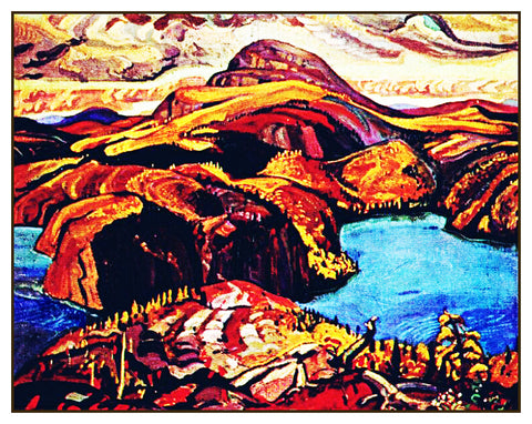 Arthur Lismer October North Shore Lake Superior Canada Landscape Counted Cross Stitch or Counted Needlepoint Pattern