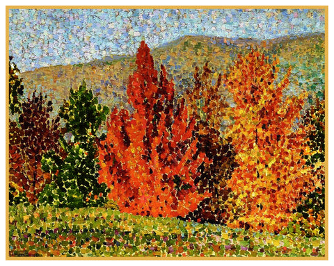 Henri Cross Autumn French Landscape Orenco Originals Counted Cross Stitch Pattern