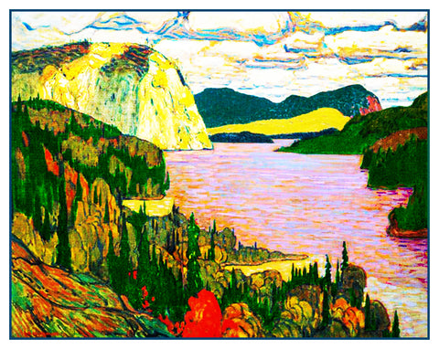 James MacDonald's The Solemn Land River Ontario Canada Landscape Counted Cross Stitch Pattern