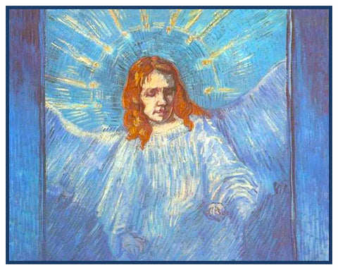 Figure of an Angel by Vincent Van Gogh Counted Cross Stitch or Counted Needlepoint Pattern