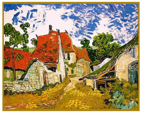 Village Road in Arles France by Vincent Van Gogh Counted Cross Stitch Pattern