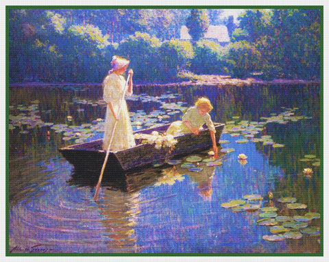 Boating on a Summer Day By  Abbott Fuller Graves Counted Cross Stitch Pattern