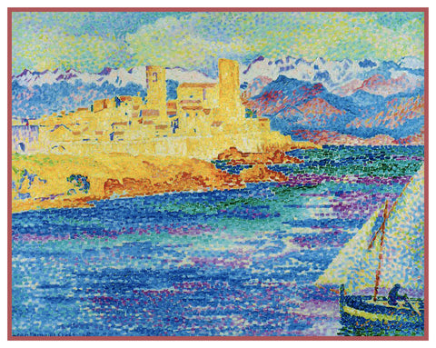 Henri Cross Coast Near Antibes France Orenco Originals Counted Cross Stitch Pattern