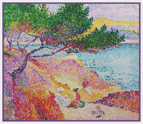 Henri Cross Le Plage de St Clair Orenco Originals Counted Cross Stitch Pattern