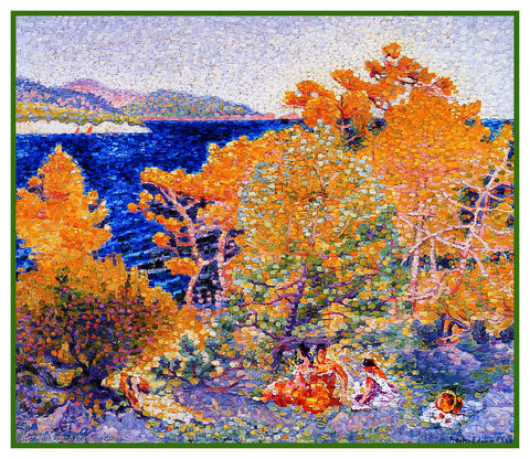 Henri-Edmond Cross Siesta By The Water Orenco Originals Counted Cross Stitch Pattern