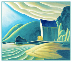 Lawren Harris's House in Coldwell Lake Superior Ontario Canada Landscape Counted Cross Stitch or Counted Needlepoint Pattern