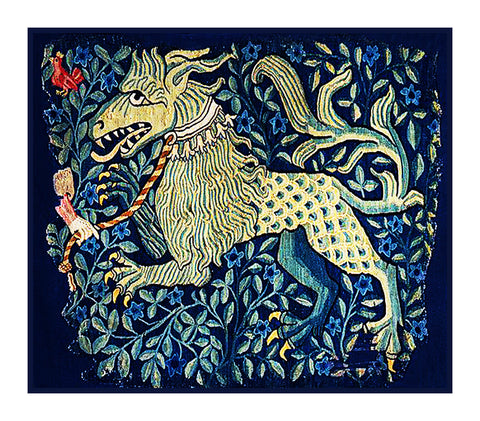Gremlin Animal from a Medieval Tapestry Counted Cross Stitch Pattern