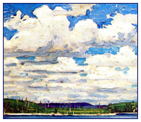 Tom Thomson's Summer Day Algonquin Canada Landscape Counted Cross Stitch or Counted Needlepoint Pattern