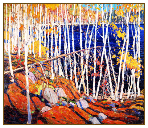 Tom Thomson's Autumn in the Northland Canada Landscape Counted Cross Stitch Pattern