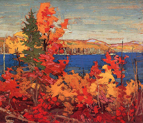 Tom Thomson's Trees Autumn Foliage Ontario Canada Landscape Counted Cross Stitch or Counted Needlepoint Pattern