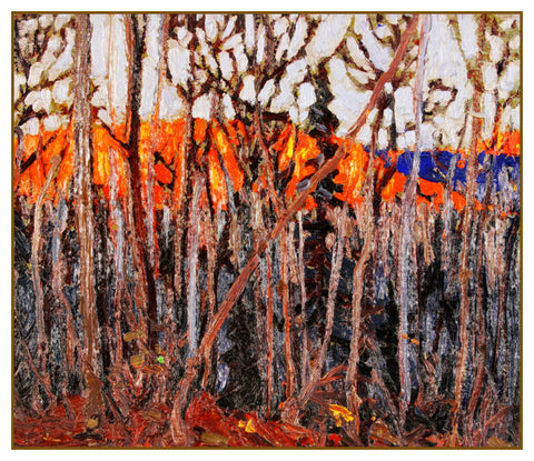 Tom Thomson's Trees in Algonquin Park Ontario Canada Landscape Counted Cross Stitch or Counted Needlepoint Pattern