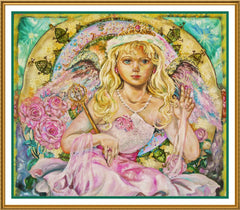 Angel of the Pink Saphire inspired by Yumi Sugai Counted Cross Stitch  Pattern - Orenco Originals LLC