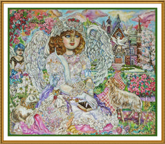 Angel of the Bible inspired by Yumi Sugai Counted Cross Stitch  Pattern - Orenco Originals LLC