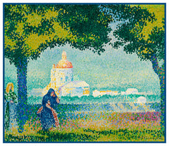 Henri-Edmond Cross Church St Maria Near Assisi Orenco Originals Counted Cross Stitch Pattern