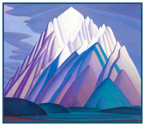 Lawren Harris's Mountain Forms Canada Landscape Counted Cross Stitch Pattern DIGITAL DOWNLOAD