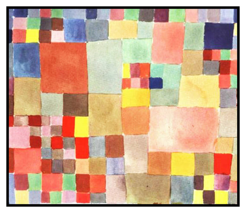 Flora on Sand by Expressionist Artist Paul Klee Counted Cross Stitch Pattern