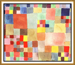 Flora on Sand by Expressionist Artist Paul Klee Counted Cross Stitch or Counted Needlepoint Pattern