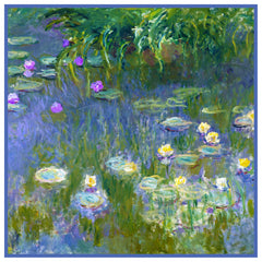 Water Lilies inspired by Claude Monet's impressionist painting Counted Cross Stitch or Counted Needlepoint Pattern