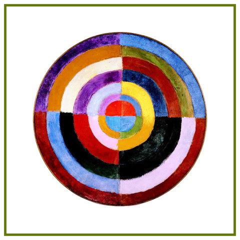 The Premier Disc Geometric Cusbism by Artist Robert Delaunay Counted Cross Stitch Pattern