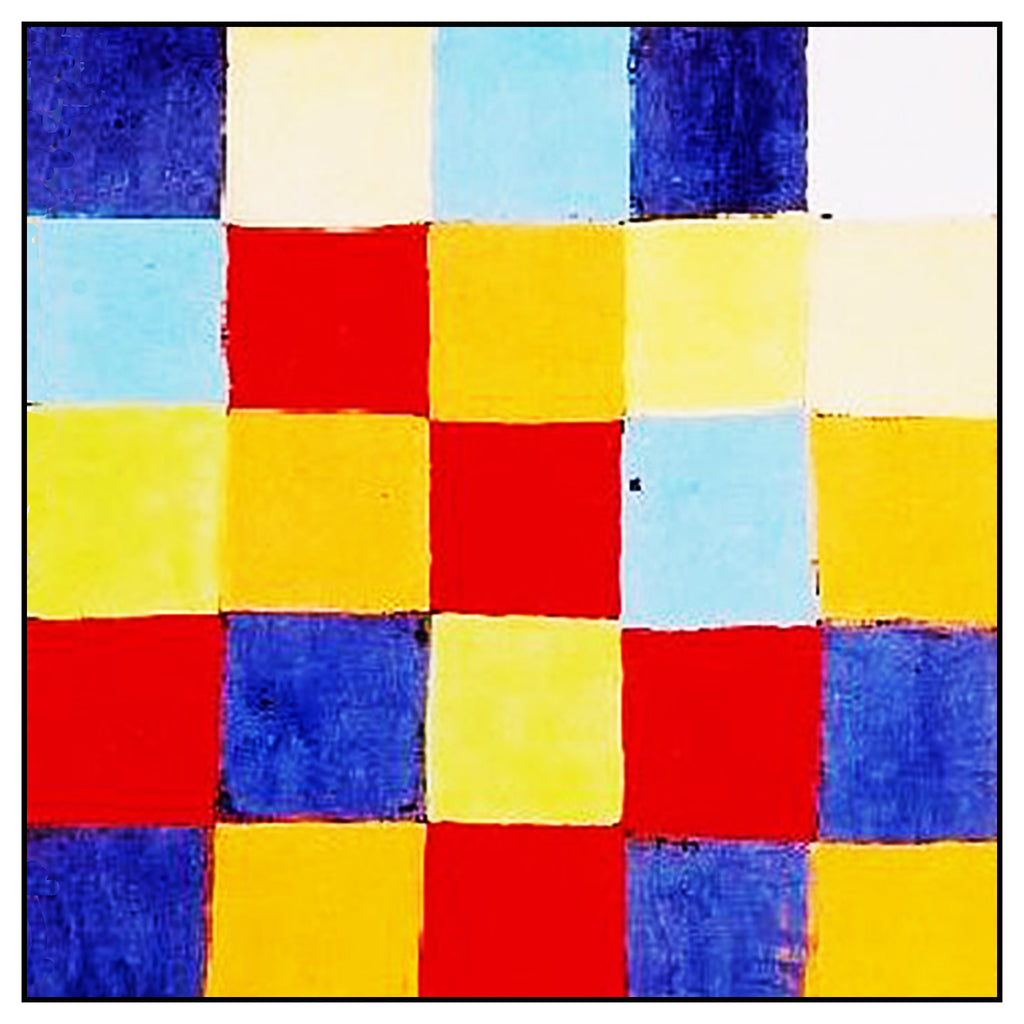 Farbtafel Color Charts detail by Expressionist Artist Paul Klee Counted Cross Stitch or Counted Needlepoint Pattern