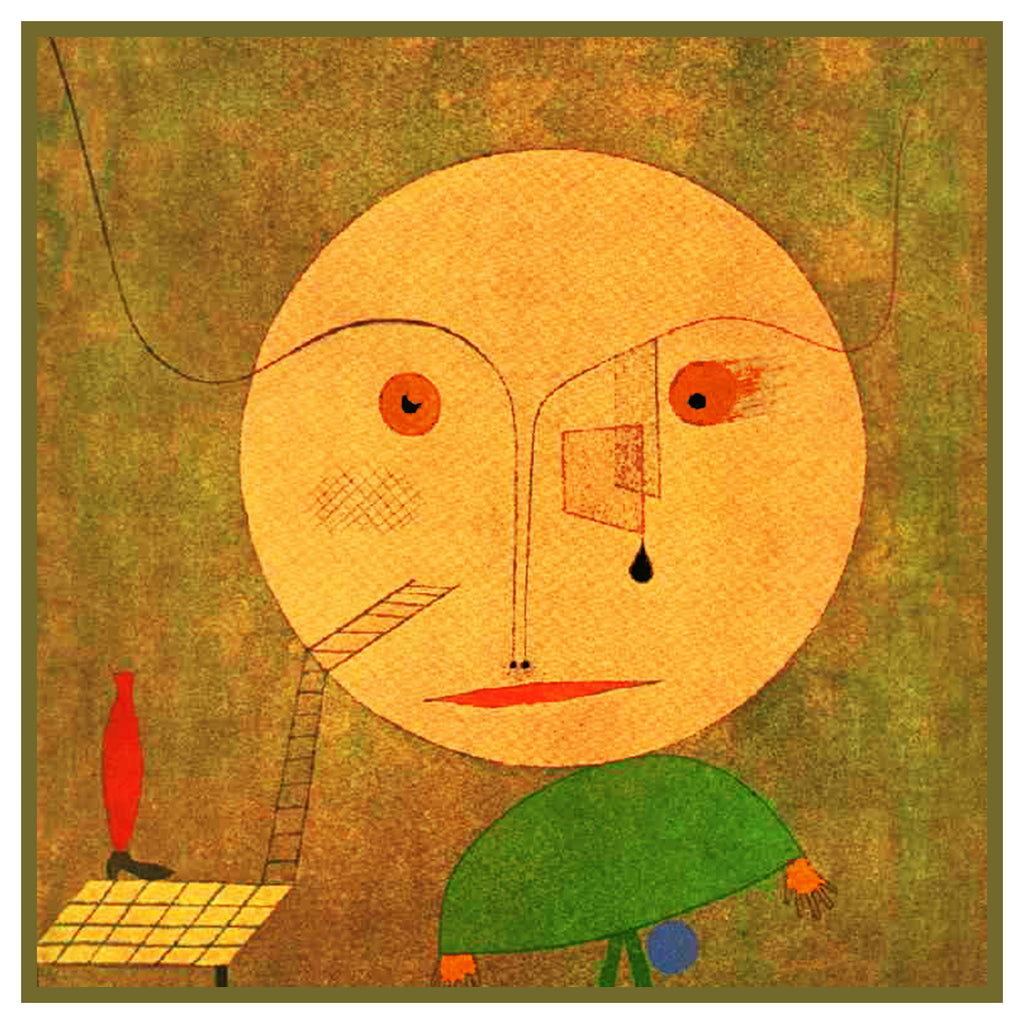 Error on Green by Expressionist Artist Paul Klee Counted Cross Stitch or Counted Needlepoint Pattern