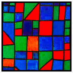 Glass Facade detail by Expressionist Artist Paul Klee Counted Cross Stitch Pattern